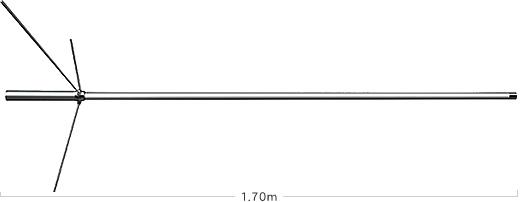 【ラッキーシール対応】 D777 ダイヤモンド 120/300MHz帯エアバンド受信用アンテナ