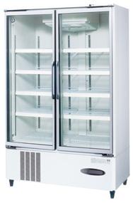 USR-120A3 (白) ホシザキ リーチイン冷蔵ショーケース スイング扉タイプ ヒーターなしガラス扉仕様 送料無料