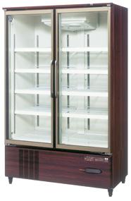 USR-120A3-B (木目調) ホシザキ リーチイン冷蔵ショーケース スイング扉タイプ ヒーターなしガラス扉仕様 送料無料