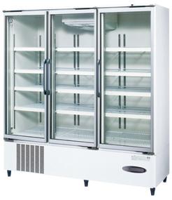 USR-180AT3 (白) ホシザキ リーチイン冷蔵ショーケース ユニット下置き スイング扉タイプ ヒーターなしガラス扉仕様 送料無料