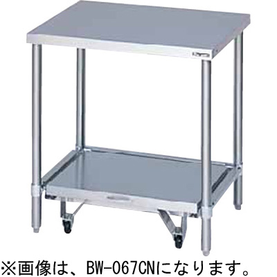 BW-066CN マルゼン 炊飯器台 キャスター台付 バックガードなし 送料無料