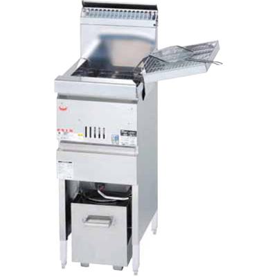 MGF-CM10K マルゼン ガスフライヤー 涼厨フライヤー 奥行450mm仕様 業務用 送料無料