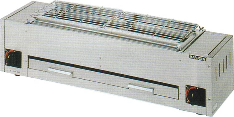 MGK-204B マルゼン ガス下火式焼物器 炭焼き 熱板タイプ 兼用型 送料無料