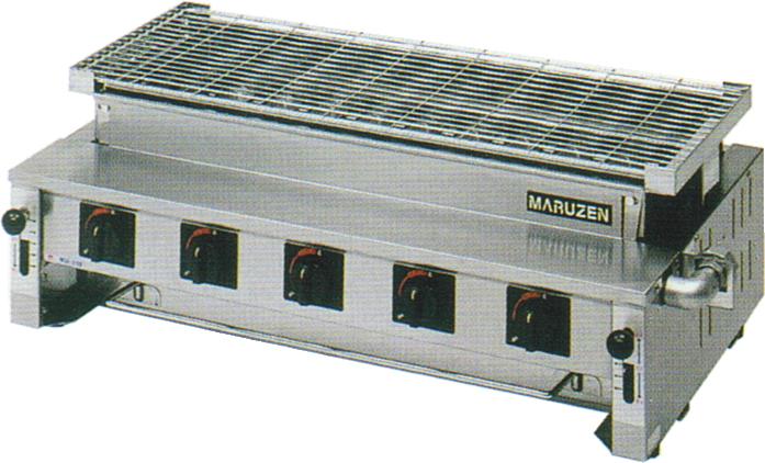 MGK-310B マルゼン ガス下火式焼物器 炭焼き 熱板タイプ 汎用型 送料無料