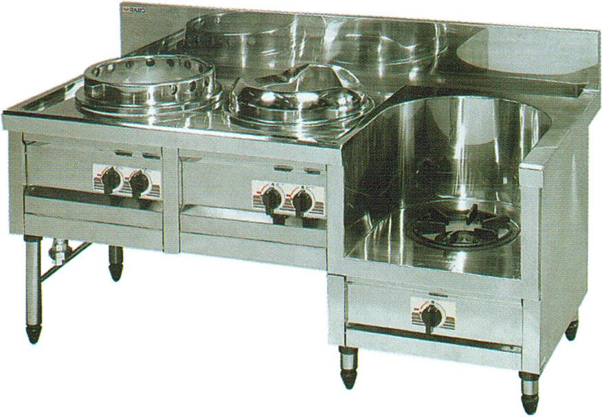 MR-513 マルゼン 中華レンジ 内管式デラックス型 ギョーザ・イタメ・スープ 送料無料