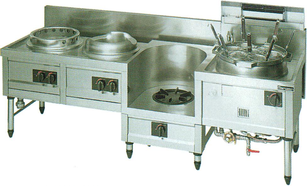 MR-564B マルゼン 中華レンジ 内管式デラックス型 ギョーザ・イタメ・スープ・ゆで麺 送料無料