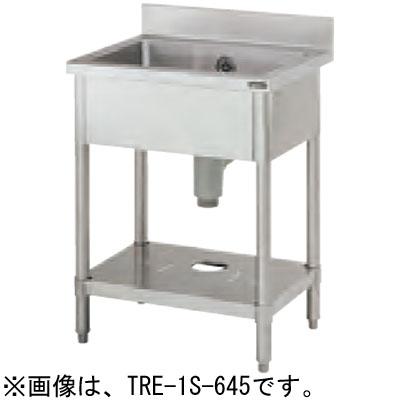 新品:タニコー 一槽シンク 受注生産品 TRE-1S-4545 入手困難 タニコー 送料無料 バックガードあり