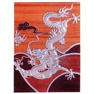 九龍の飾り板 単品茶