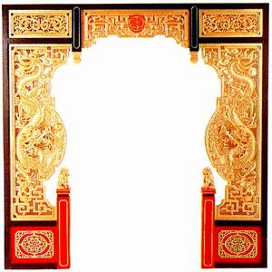 中国式木彫ゲート W244cm