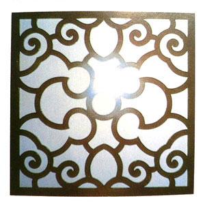 木製四角壁飾り 鏡