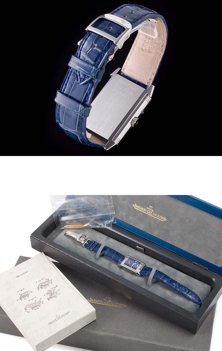 재규어 발 커트 レベルソ 듀오 블루 Ref.210.8.54 (JAEGER-LECOULTRE REVERSO DUO BLUE Ref.210.8.54)