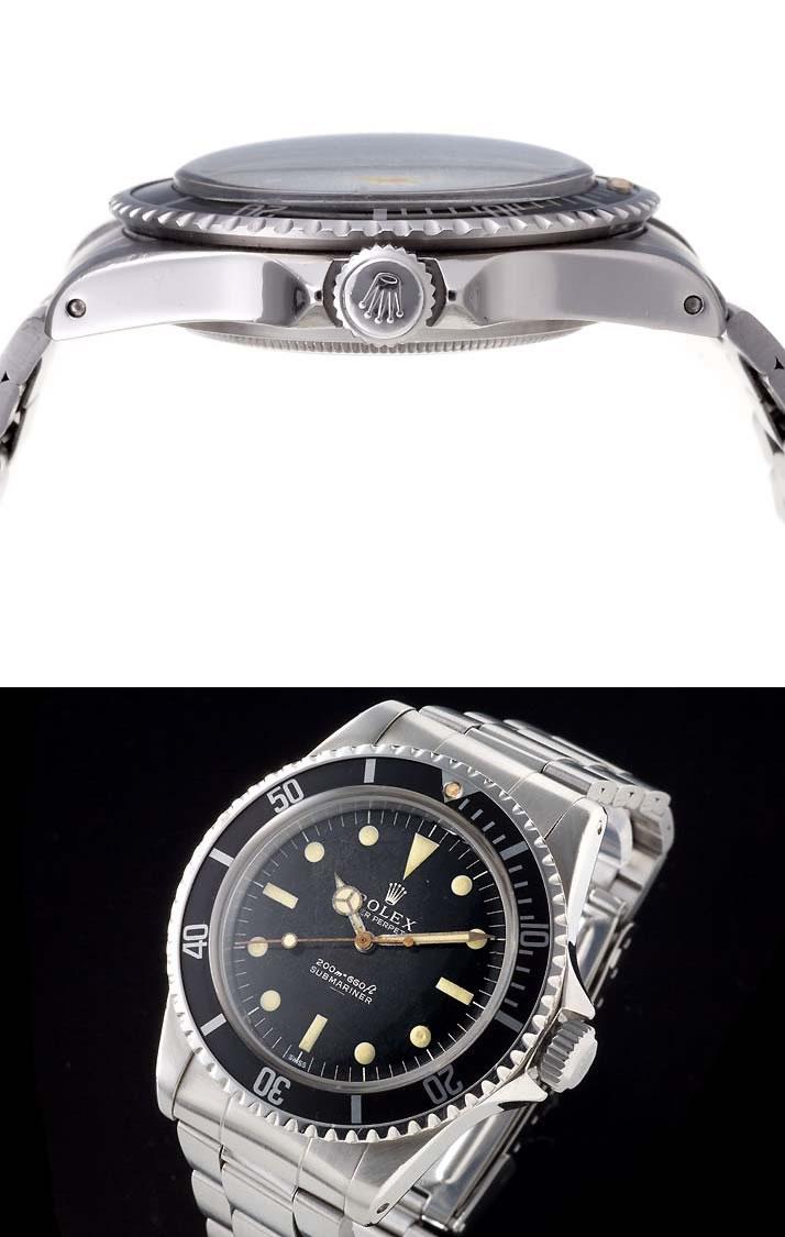 Rolex Submariner mirror dial under SS Ref.5513 1963