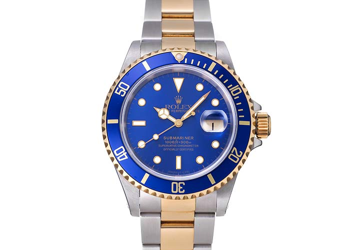 劳力士潜艇日期蓝色拨号 Ref.16613 1996 (拨号 Ref.16613 蓝色,劳力士潜艇日期 CA.1996)