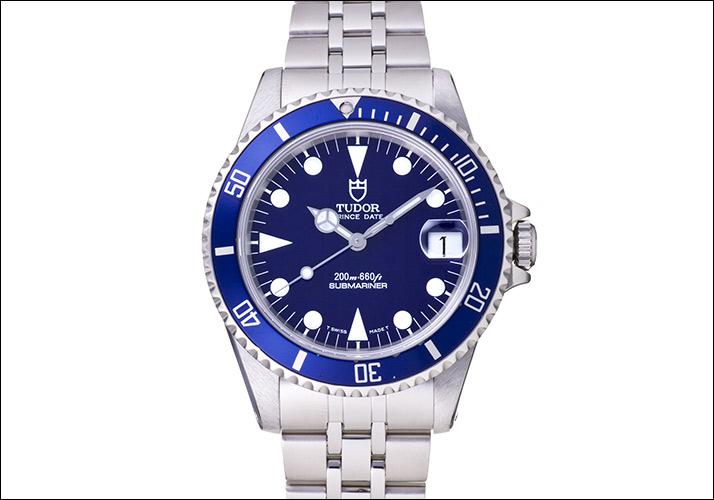 관이 달러 프린스 하루 하위 마리나 파랑 하위 정박 소 Ref.75190 (TUDOR PRINCE DATE SUBMARINER BLUE DIAL Ref.75190)