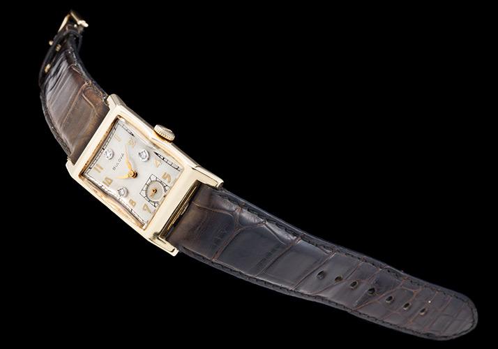 The ブローバレクタングルアワーグラス 14KYG 1940s