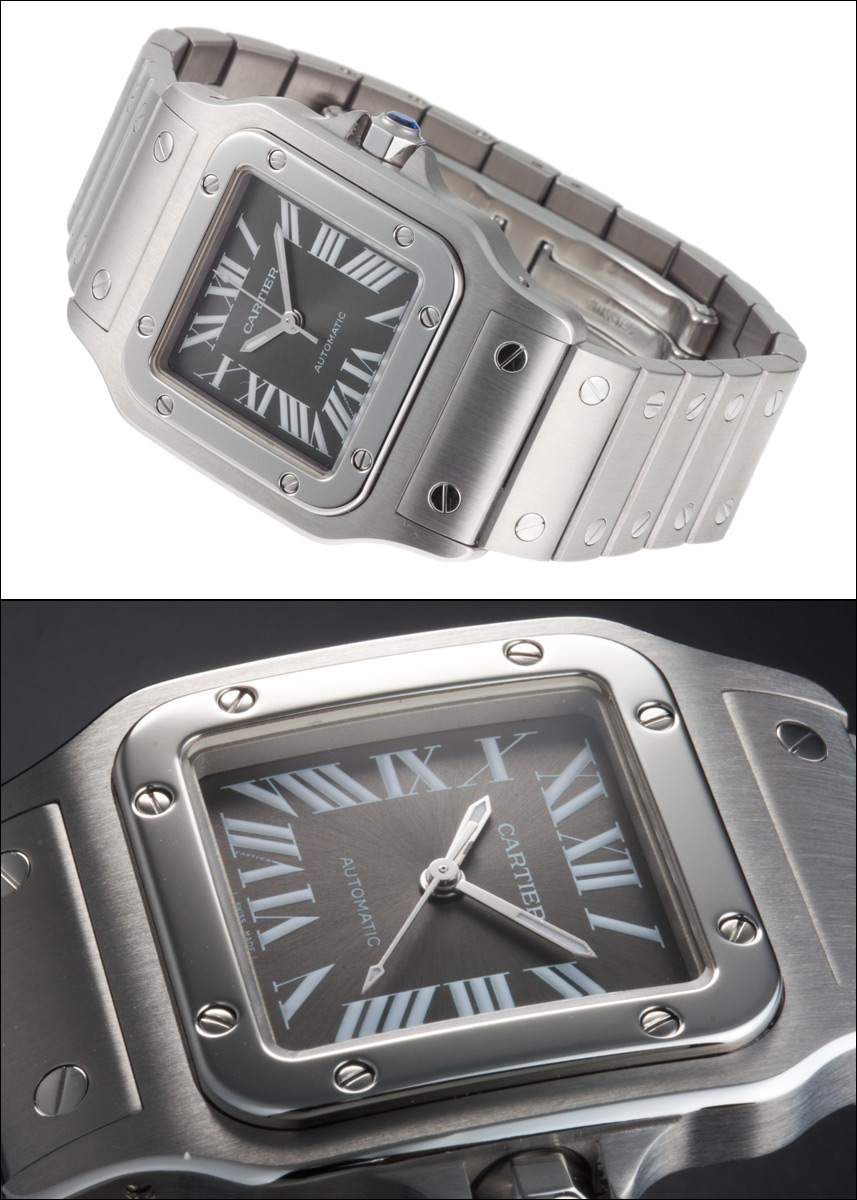 Cartier Santos galbee Ref.W20067D6 grey dial SS LM Asia Limited, 2002