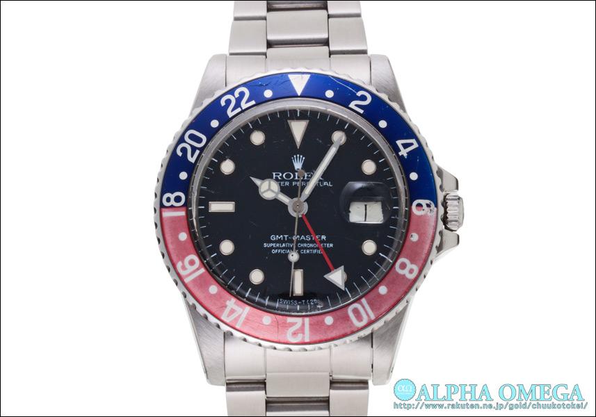 롤렉스 GMT 마스터 Ref.16750 레드/블루 스파이더 걸 1984 년