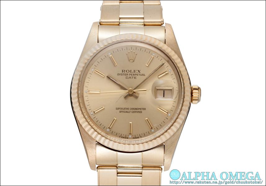 オイスターパーペチュル 하루 Ref.15037 샴페인 골드 다이얼 1981 년 (ROLEX OYSTER PARPEPUAL DATE Ref.15037 CHAMPAGNE GOLD DIAL Ca.1981)