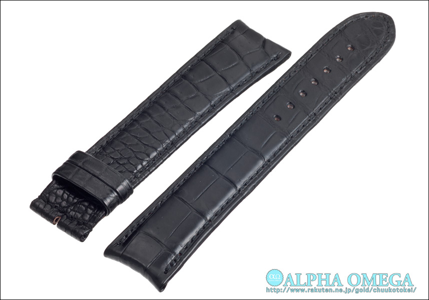 Alpha Omega F. P. Journe for Matt Black crocodile strap made in Japan special luxury watches for belts, band Ref.FP01MBK