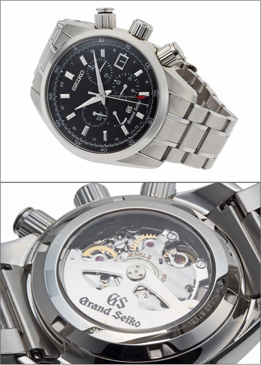 Grand Seiko spring drive chronograph Ref.9R86-0AA0, SBGC003 black dial-2011 master shop limited
