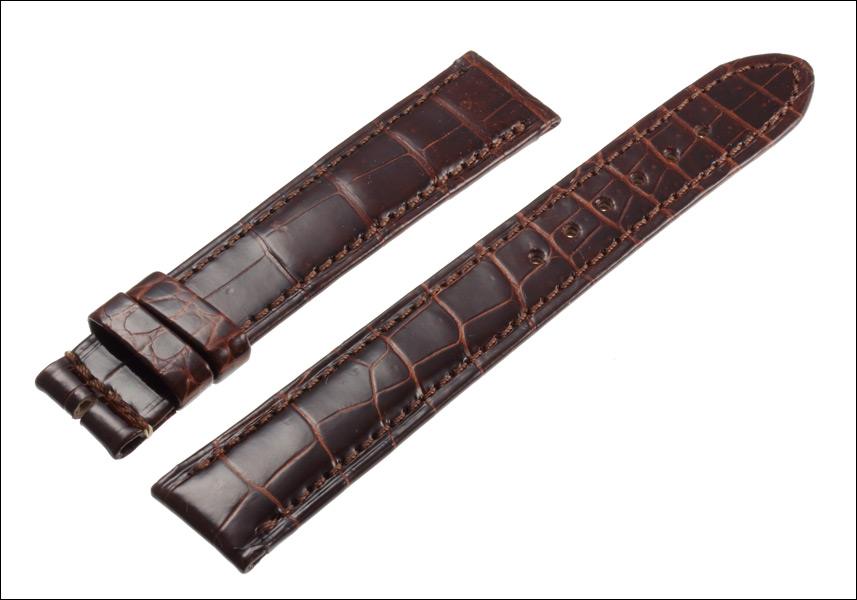 Alpha Omega Cartier マストタンク SM シャイニーダークブラウン crocodile strap made in Japan special luxury watches for belts, band Ref.CA07SDBR