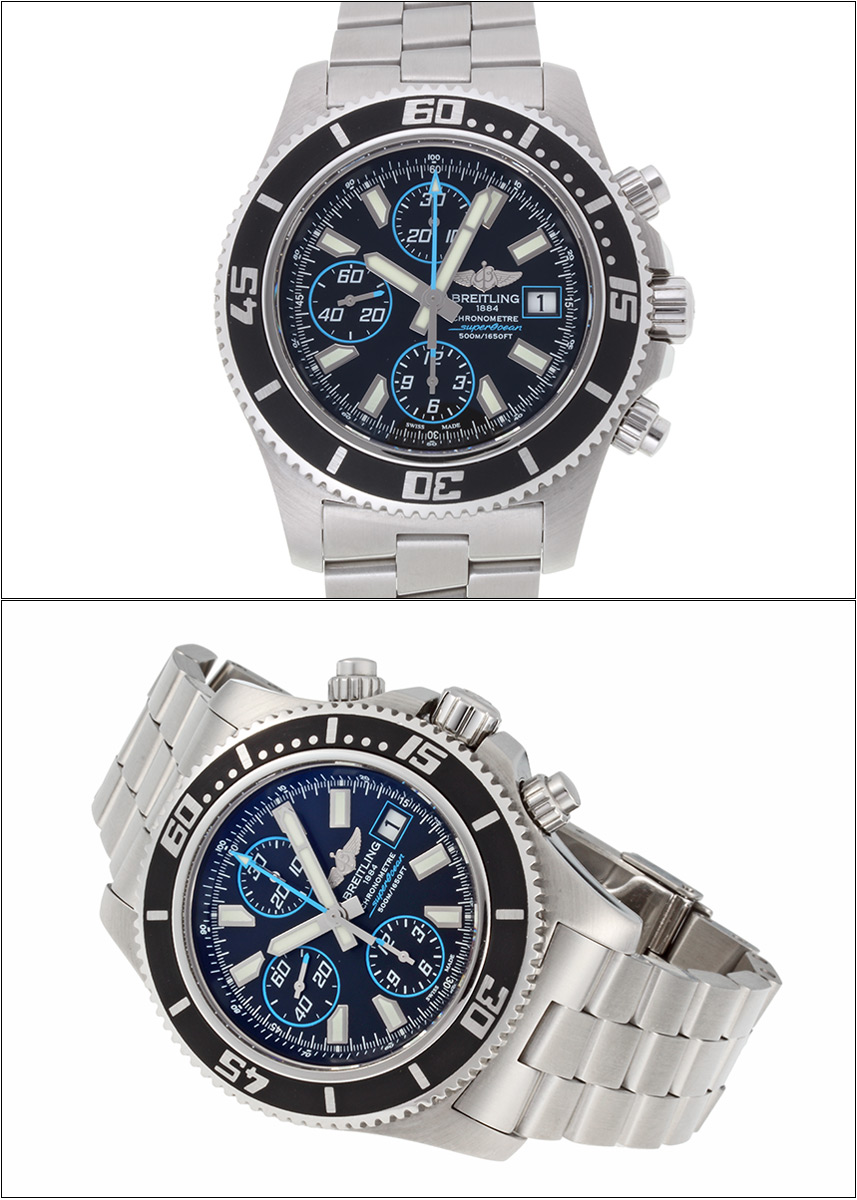 Brightman ring supermarket ocean chronograph Ref.A13341 abyss blue dial 2011