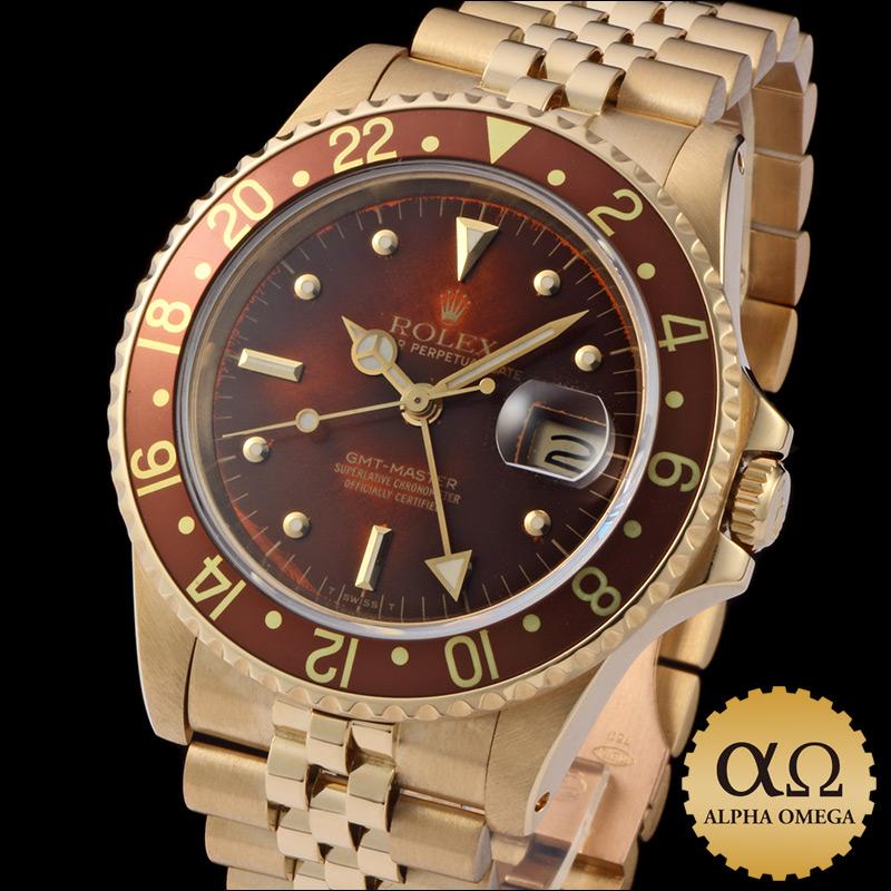 Rolex GMT Master Ref.16758 ブラウンニップル (barnacles) dial-1984
