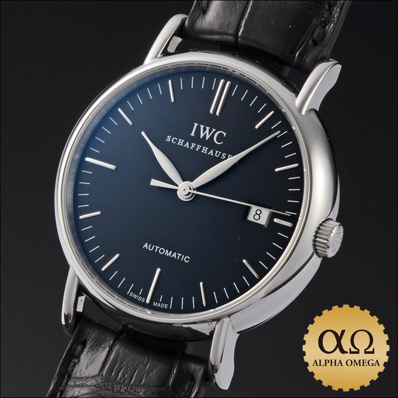IWC Portofino 39 mm Ref.3563 SS black dial-2000s