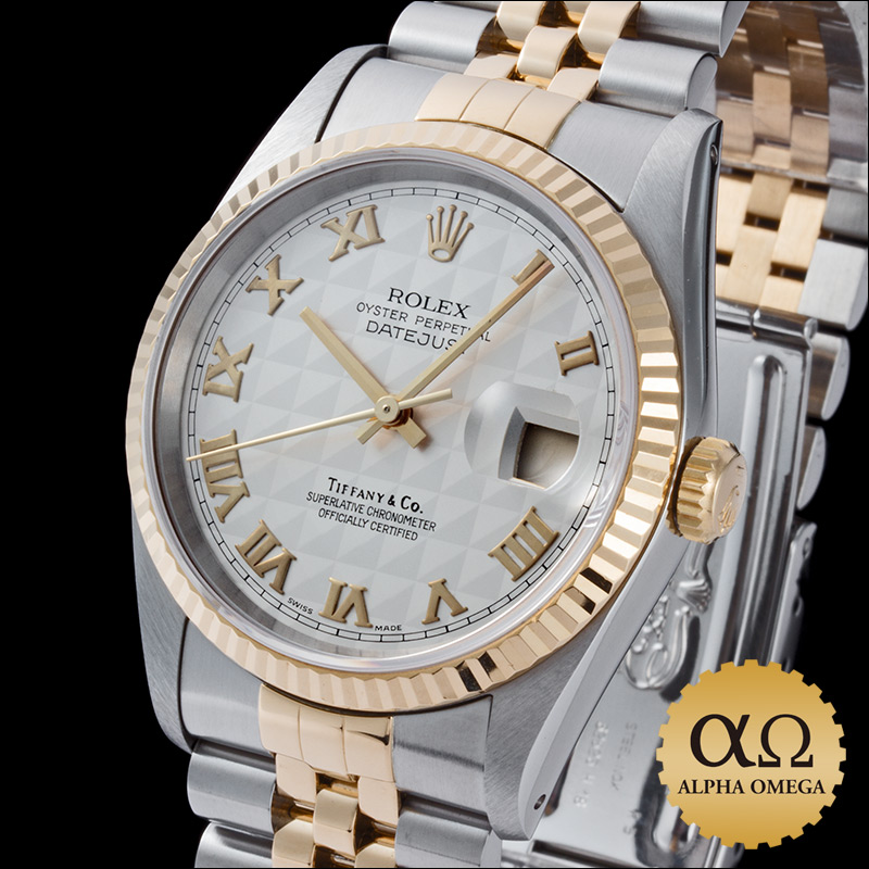 Rolex / Tiffany & co-Datejust Ref.16233 duo SS/YG アイボリーピラミッドローマン dial-1993