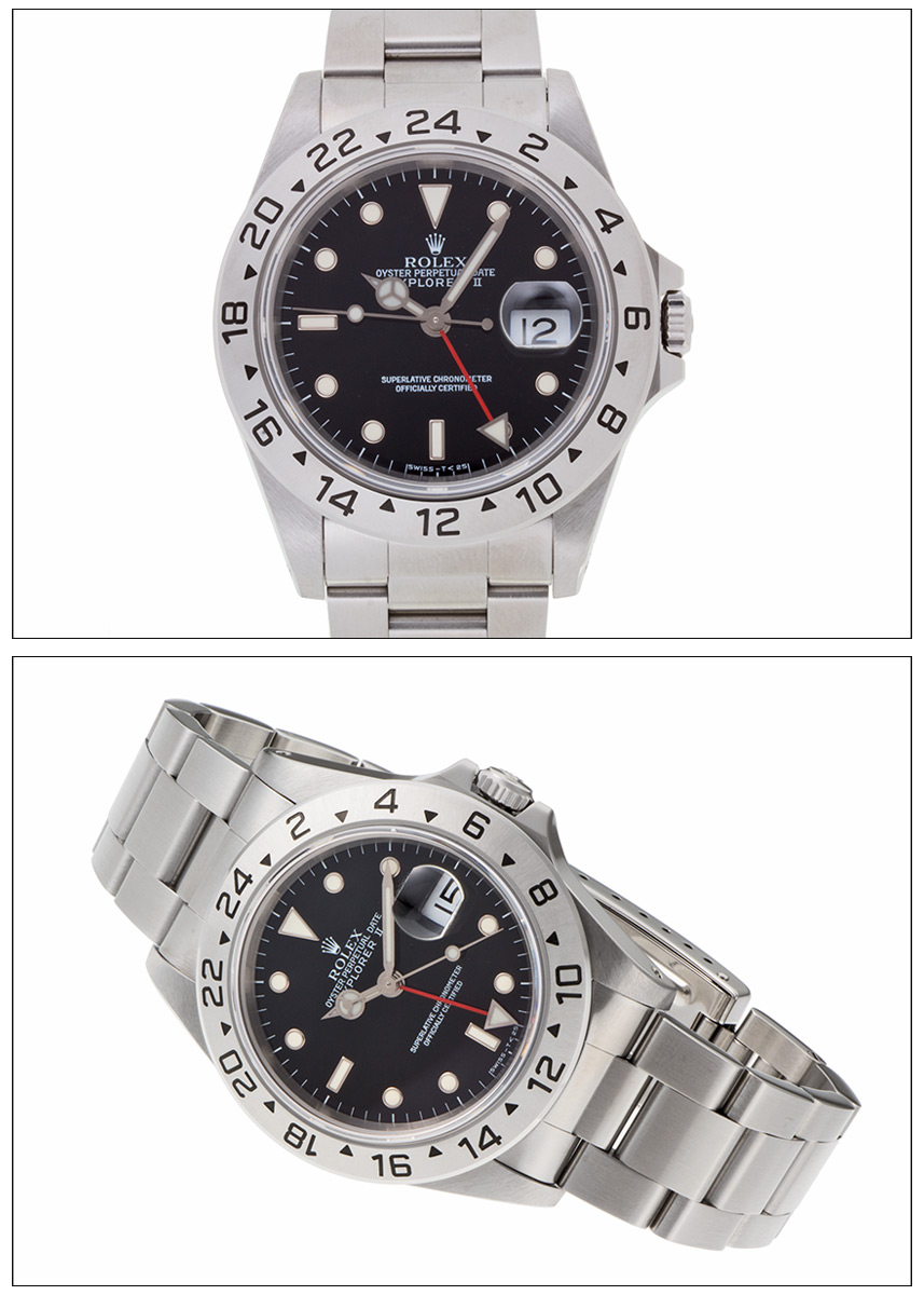 Rolex Explorer 2 Ref.16570 stainless steel black dial, 1995