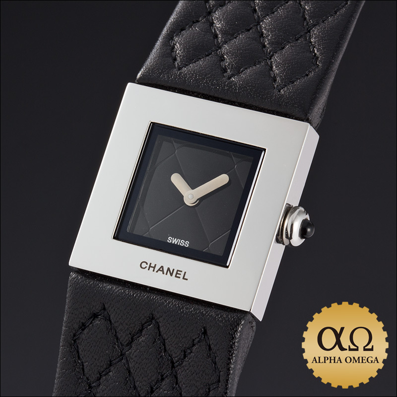 Chanel matelasse watch Ref.H0116 stainless steel, 1999