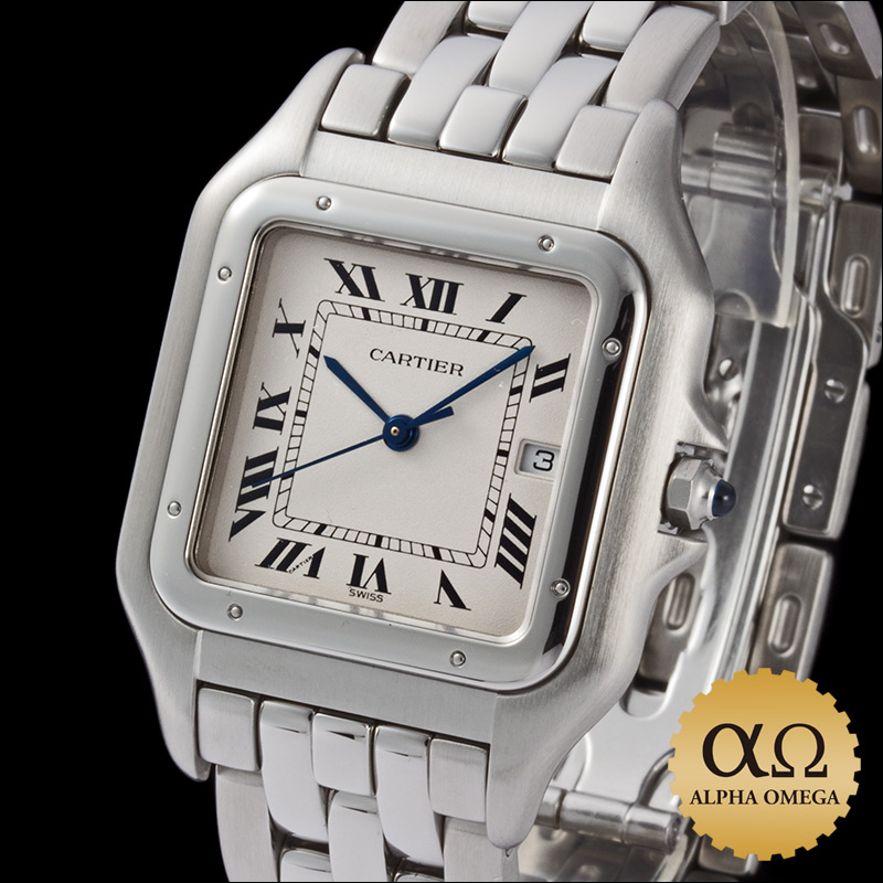 Cartier Watch stainless steel LM 1990s