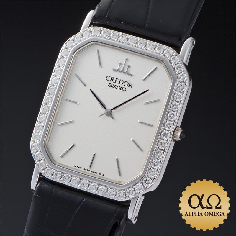Seiko credor prestige Ref.2F70-5060 1994, White Gold Diamond Bezel