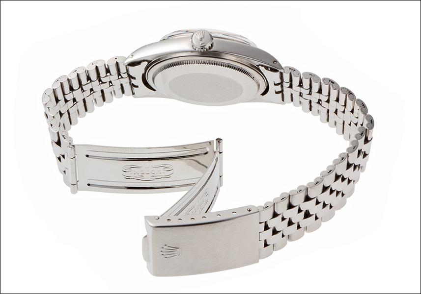 Rolex Datejust watch Ref.1601 white gold bezel silver mosaic dial-1972