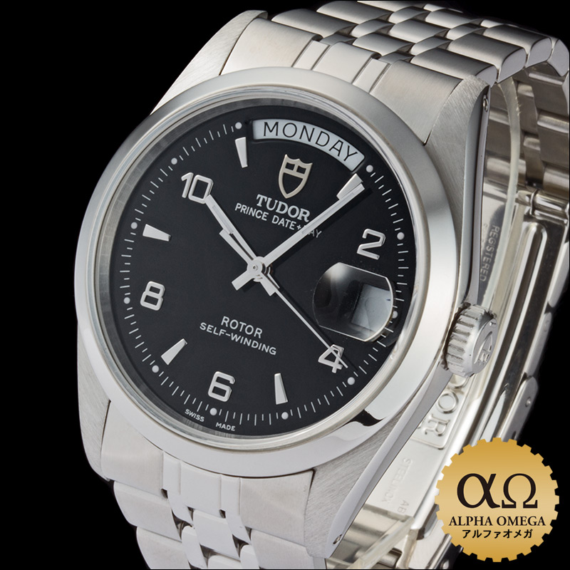 Tudor Oyster Prince date day Ref.76200 black dial-2000
