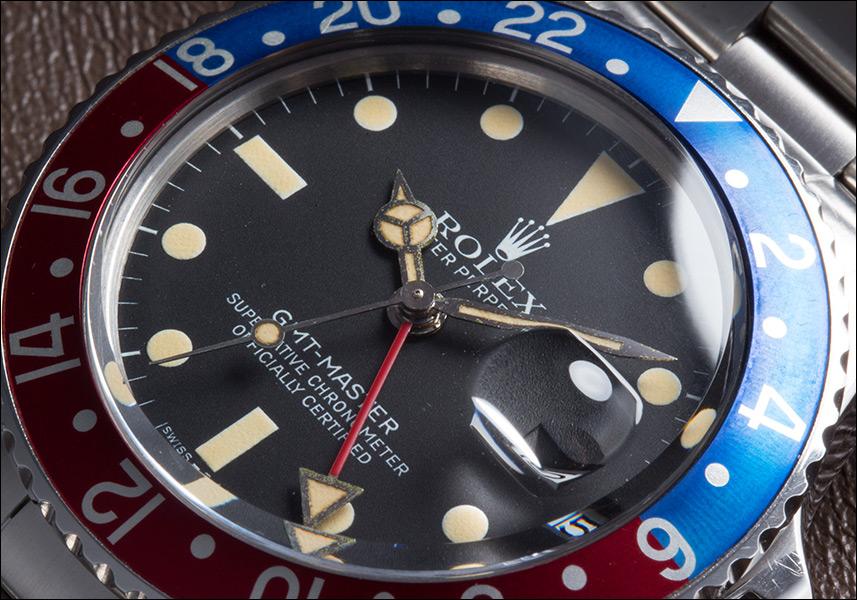 롤렉스 GMT 마스터 Ref.16750 마크 1 전화 빨강 파랑 ゼベル 스테인레스 스틸 1981 년