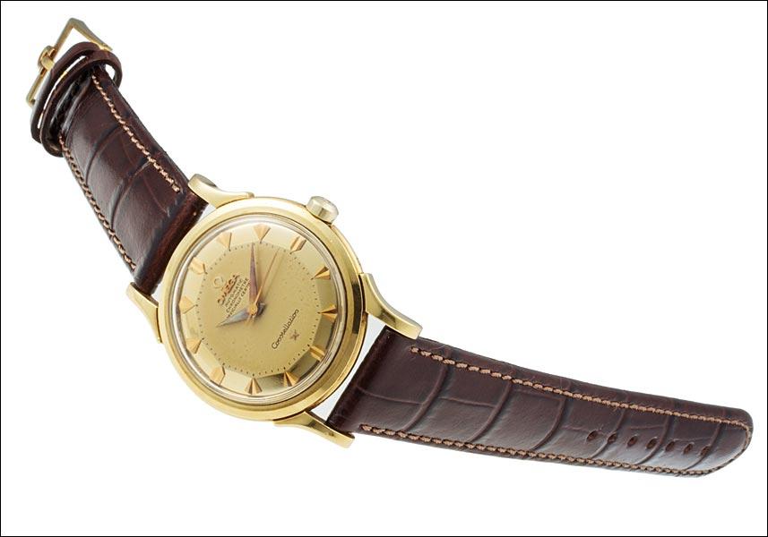 오메가 별자리 Ref.2852 2853 초기 모델 イエローゴルド 파이 빵 金無垢 전화 1956 년