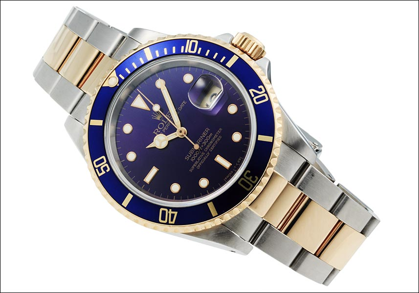 롤렉스 서브 마리나 하루 Ref.16613 파랑 하위 바이올렛, 퍼플 전화 1994 년 S 번