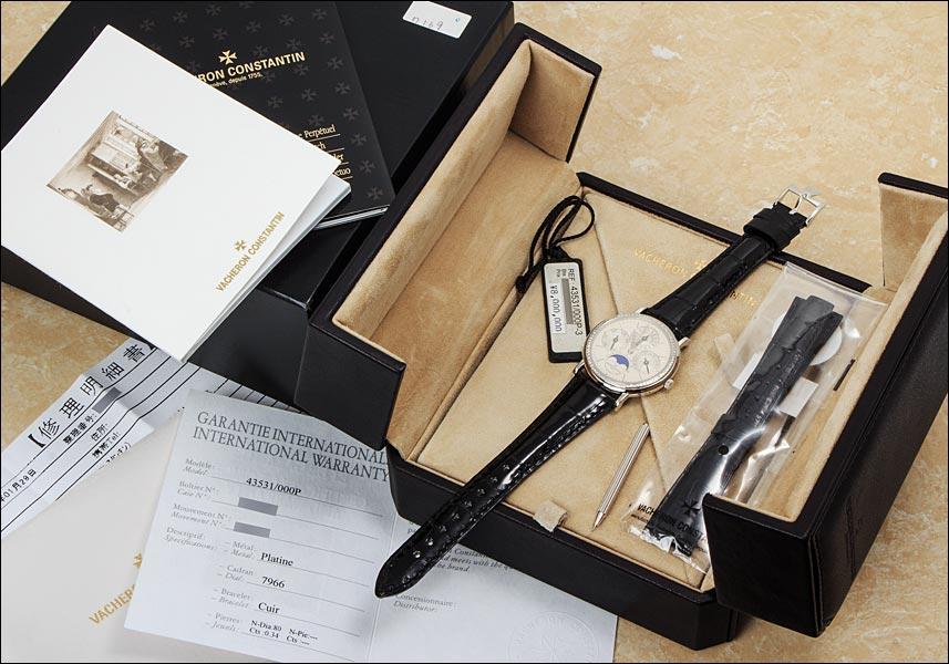 바 쉐 론 콘스탄틴 엔 Ref.43431/00P 플래티넘 ダイヤモンドベゼル 시 스루 백 2000 년대