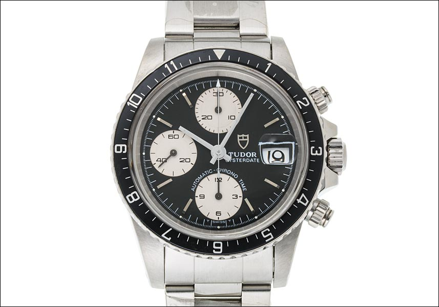 Tudor chronotime Oyster date Ref.79170 Black / Silver early dial-stainless steel-1988