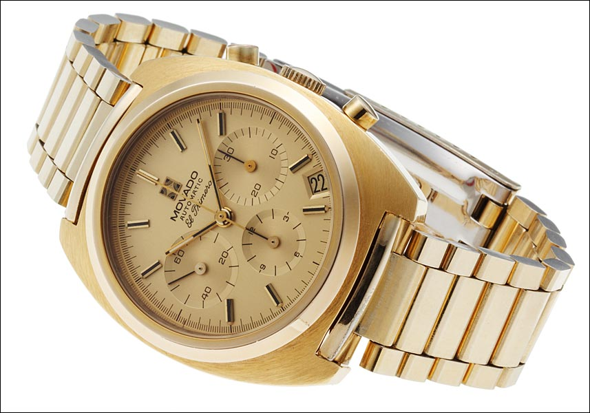 Retail Zenith chronograph El Primero Ref.20.0220-416 18kt yellow gold plated 1970's