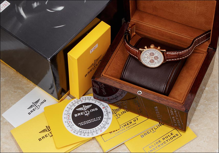 Breitling Navitimer 07 Ref.R41380 red Japan Limited Edition 100 pieces 2007
