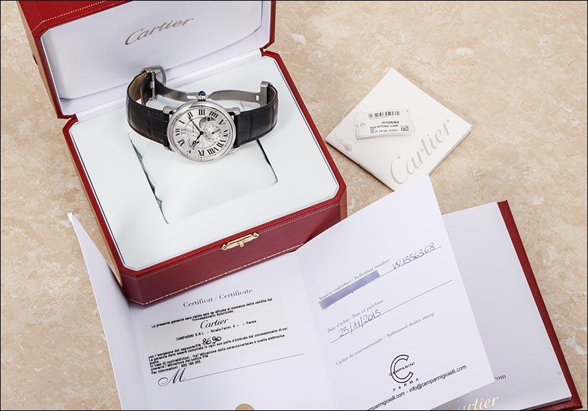 카르티에로톤드그란드데이트레트로그라드 Ref.W1556368 GMT SS 2015