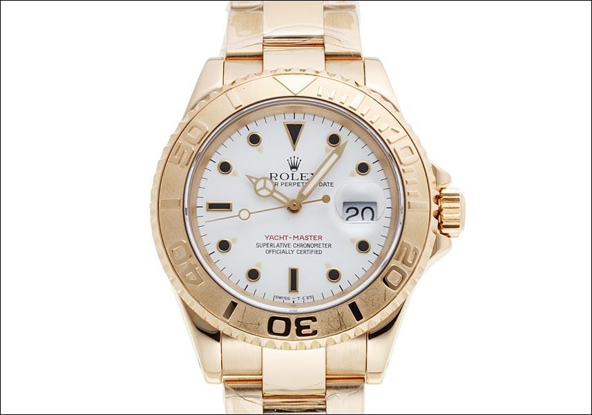 劳力士帆船主人Ref.1万6628白拨盘黄色黄金1994年S轮到