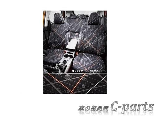 【純正】SUBARU XV スバル XV【GT3 GT7】  オールウェザーシートカバー(リヤ3席分)【オレンジライン】[F4117FL120]