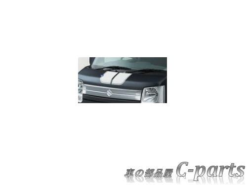 【純正】SUZUKI EVERY WAGON スズキ エブリイワゴン【DA17V DA17W】 フードデカール【ストライプ/ホワイト】[99000-99035-E09]