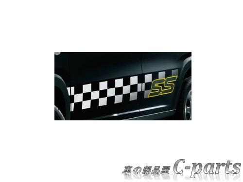 【純正】SUZUKI HUSTLER スズキ ハスラー【MR31S MR41S】  サイドデカール(チェッカー/SS)【ホワイト】[99230-65P20-001]