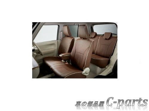 【純正】SUZUKI Lapin スズキ ラパン【HE33S】  革調シートカバー(アームレストボックス無車用)[99000-99034-LT1]