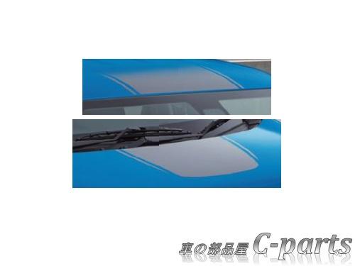 【純正】SUZUKI WAGONR STINGRAY スズキ ワゴンRスティングレー【MH35S MH55S】  フード&ルーフデカール(ストライプ)【ライトグレー】[99230-63R00]