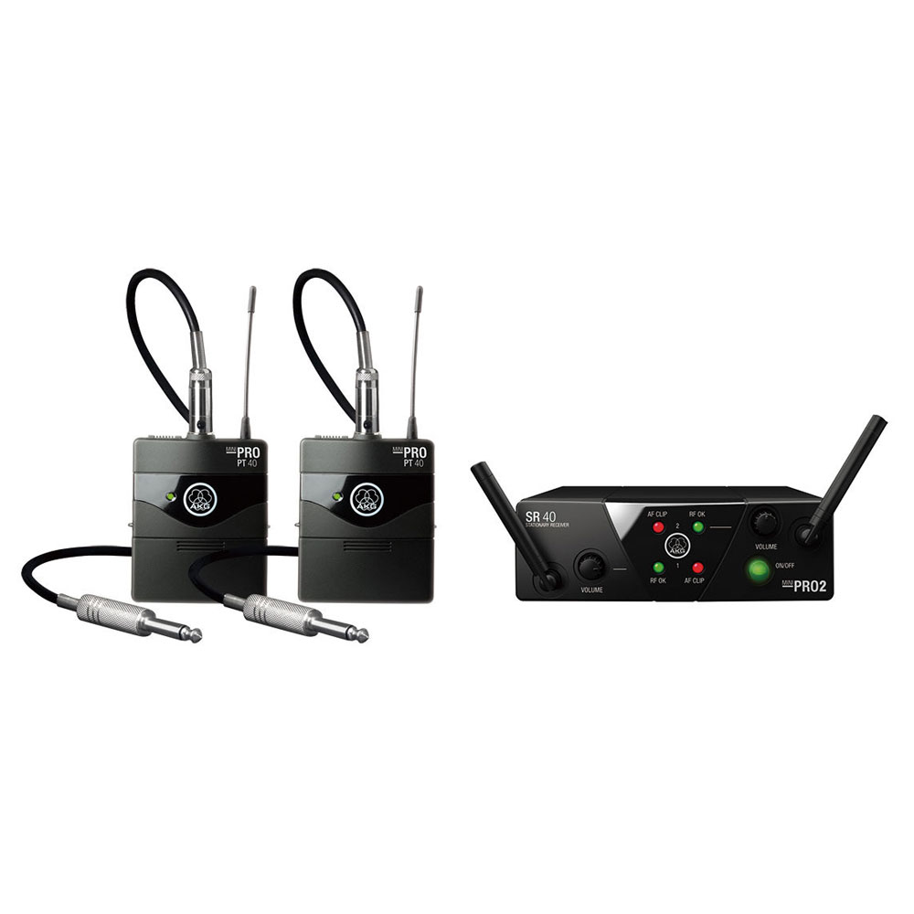 AKG WMS40 PRO MINI2 INSTRUMENTAL SET DUAL 楽器用ワイアレス2本セット